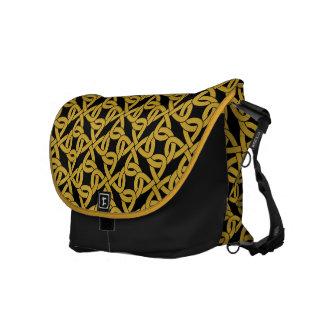 modelo de estilo celta del knotwork bolsas de mensajeria