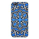 Modelo de estilo celta en azul iPhone 5 carcasa