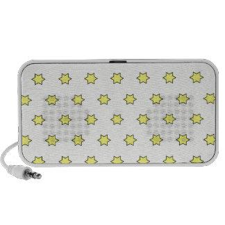 Modelo de estrella, amarillo iPhone altavoces