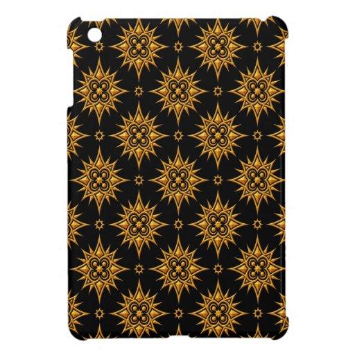 Modelo de estrella amarillo y negro iPad mini fundas