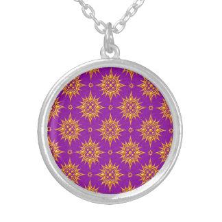 Modelo de estrella amarillo y púrpura joyerías