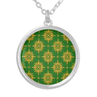 Modelo de estrella amarillo y verde grimpola personalizada