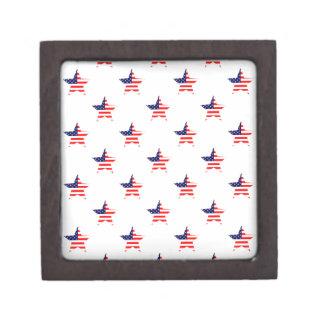 Modelo de estrella americano de la gloria cajas de recuerdo de calidad