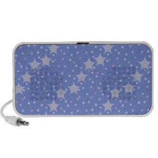Modelo de estrella azul bonito altavoces