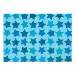 Modelo de estrella azul comunicado personalizado