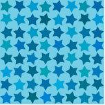 Modelo de estrella azul escultura fotografica