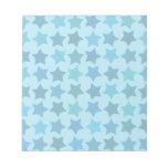 Modelo de estrella azul libretas para notas