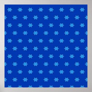 Modelo de estrella azul manchado de tinta