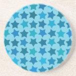 Modelo de estrella azul posavasos personalizados