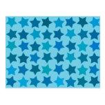 Modelo de estrella azul postal