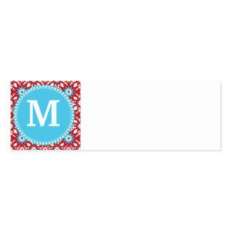 Modelo de estrella azul rojo personalizado del tarjetas de visita mini