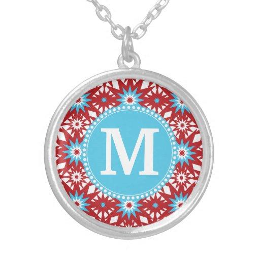 Modelo de estrella azul rojo personalizado del tru joyería