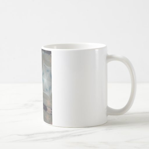 Modelo de estrella azul tazas de café