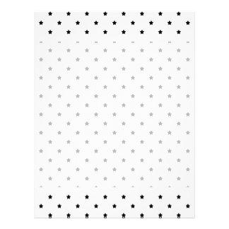 Modelo de estrella blanco y negro tarjetones