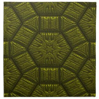 Modelo de estrella brillante intrigante, aceituna servilletas imprimidas