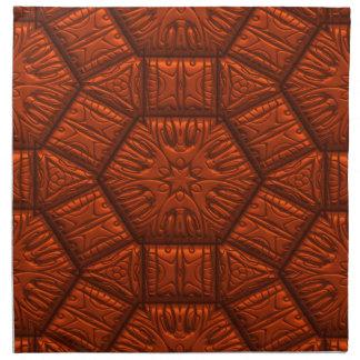 Modelo de estrella brillante intrigante, rojo servilleta