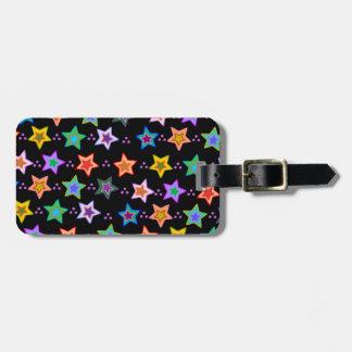 Modelo de estrella colorido etiquetas para maletas