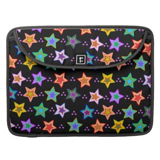 Modelo de estrella colorido funda para macbooks