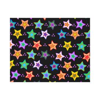 Modelo de estrella colorido lona envuelta para galerías