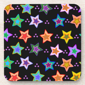 Modelo de estrella colorido posavasos