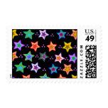 Modelo de estrella colorido sellos