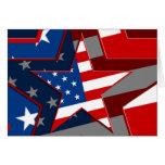 Modelo de estrella de la bandera de Amerrican