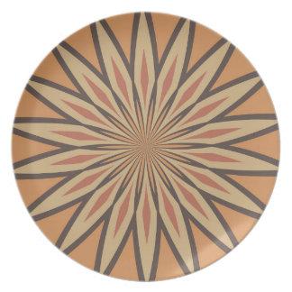 Modelo de estrella de la especia de la calabaza de platos de comidas