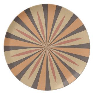 Modelo de estrella de la especia de la calabaza de plato de cena