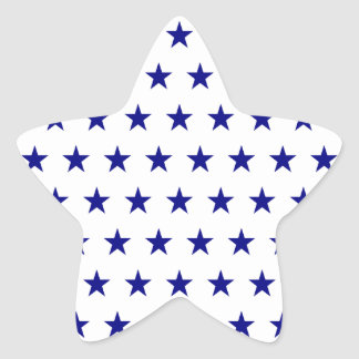 Modelo de estrella de la marina de guerra pegatina en forma de estrella