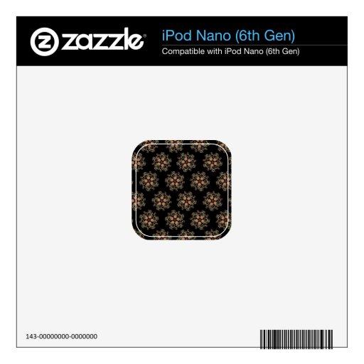 Modelo de estrella del arte del fractal de CMYK iPod Nano 6G Calcomanías