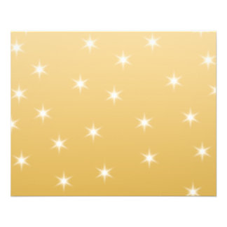 Modelo de estrella del blanco y del color oro tarjeta publicitaria