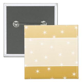 Modelo de estrella del blanco y del color oro pin