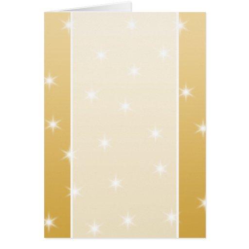 Modelo de estrella del blanco y del color oro felicitación
