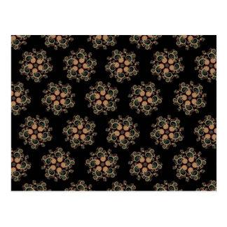 Modelo de estrella del fractal de CMYK Postal