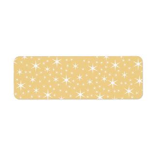 Modelo de estrella en el color blanco y etiqueta de remitente