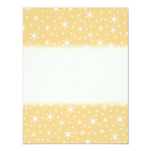 Modelo de estrella en el color blanco y invitación 10,8 x 13,9 cm