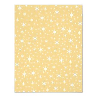 """Modelo de estrella en el color blanco y invitación 4.25"""" x 5.5"""""""