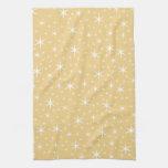 Modelo de estrella en el color blanco y no-metálic toalla de mano