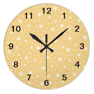 Modelo de estrella en el color blanco y no-metálic reloj redondo grande