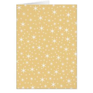 Modelo de estrella en el color blanco y no-metálic tarjeta de felicitación