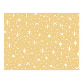 Modelo de estrella en el color blanco y postales