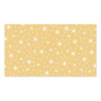 Modelo de estrella en el color blanco y tarjetas de visita