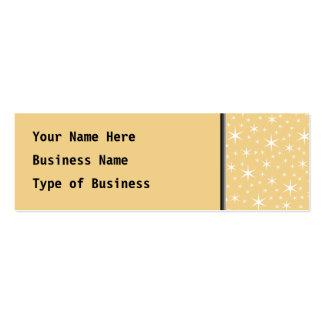 Modelo de estrella en el color blanco y tarjetas de visita mini