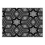 Modelo de estrella geométrico blanco y negro invitación 12,7 x 17,8 cm