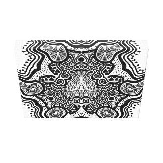 Modelo de estrella gris en el fondo blanco impresion de lienzo