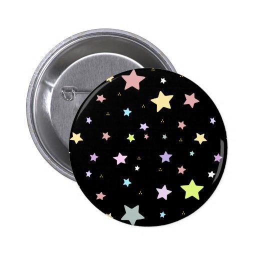 Modelo de estrella lindo pin redondo 5 cm