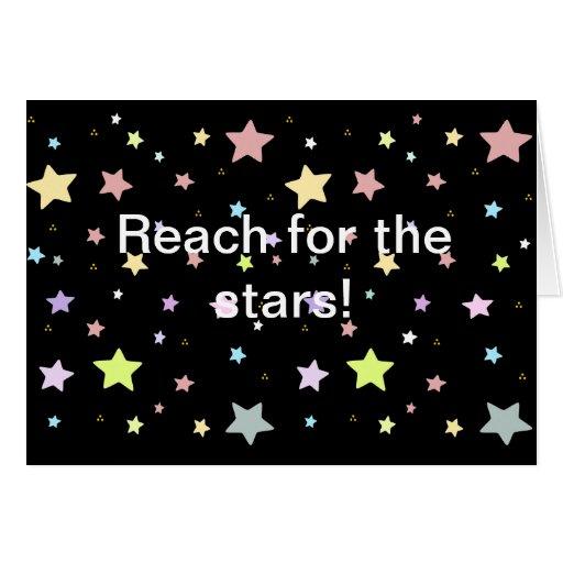 Modelo de estrella lindo tarjeta de felicitación