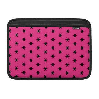"""Modelo de estrella negro y rosado 11"""" funda  MacBook"""