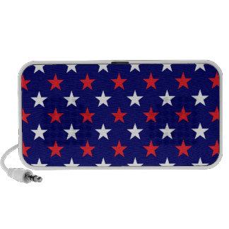 Modelo de estrella patriótico iPhone altavoz