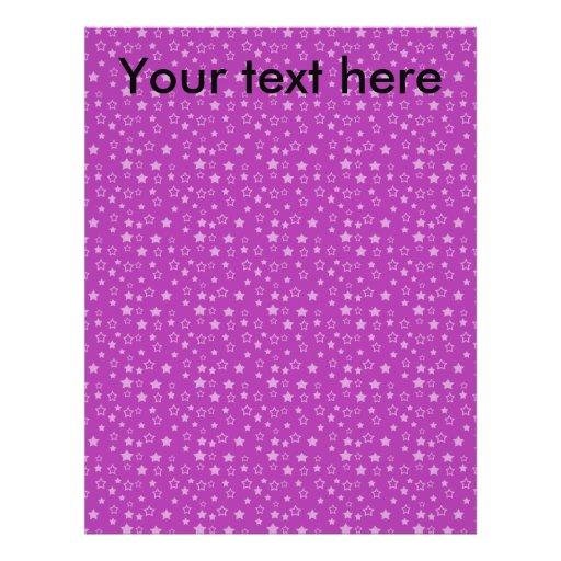"""Modelo de estrella púrpura folleto 8.5"""" x 11"""""""